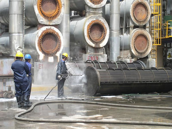 Work on cleaning boilers, as well as energy and industrial equipment